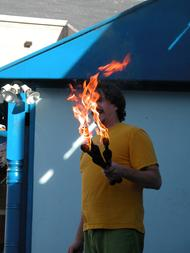 Fire juggler, keith leaf, firejuggler, performer, juggler